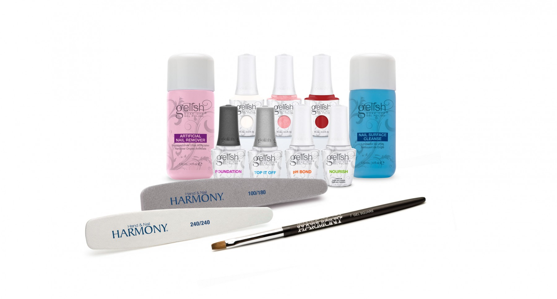 Student Gelish Kit 3 Colour Kit Lamp available separately