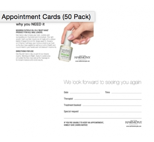 Appointment Cards (50 Pack)