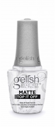 Gelish Matte Top It Off - Soak Off Gel Sealer